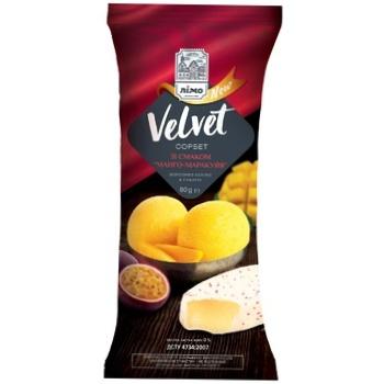 Мороженое сорбет Velvet со вкусом манго-маракуйя 80г