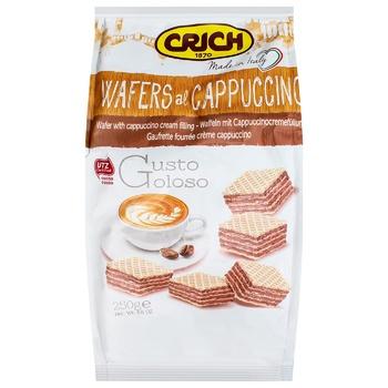 Вафлі Crich Капучіно 250г - купити, ціни на CітіМаркет - фото 1