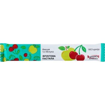 Пастила фруктовая Вишня и яблоко 15г - купить, цены на Ашан - фото 1