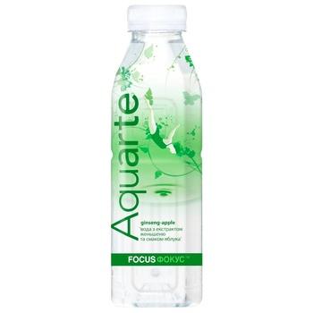 Напиток негазированный Aquarte Фокус яблоко с экстрактом женьшеня 0,5л - купить, цены на МегаМаркет - фото 1