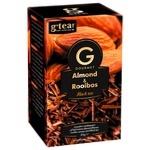 G'tea! Gourmet Black Rooibos Tea with almond  20pcs 1.75g
