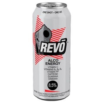 Revo Alco Energy Low Alcoholic Energy Drink Can 8,5% 0,5l - buy, prices for Metro - photo 2