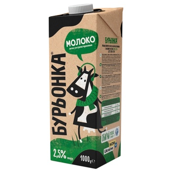 Burionka Ultrapasteurized Milk 2,5% 1l - buy, prices for CityMarket - photo 1