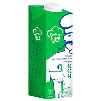Smachno Shef Culinary Ultrapasteurized Cream 18% 1kg