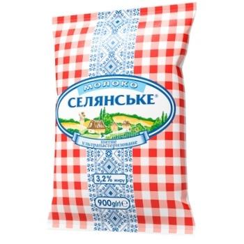 Selianske Ultrapasteurized Milk 3,2% 900g - buy, prices for CityMarket - photo 2