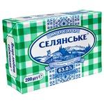 Масло Селянське Бутербродное сладкосливочное 63% 200г