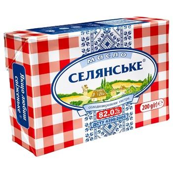 Масло Селянське солодковершкове 82% 200г