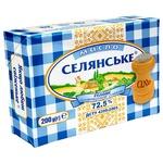 Масло Селянское сладкосливочное соленое 72,5% 200г