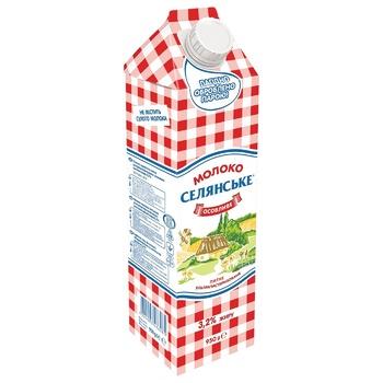 Молоко Селянське Особливе ультрапастеризоване 3,2% 950г