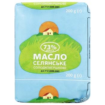 Масло Селянське солодковершкове 73% 200г