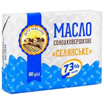 Масло Крестьянское ДСТУ 73% 180г