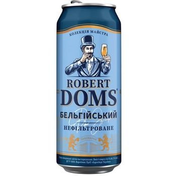 Robert Doms Belgian Light Unfiltered Beer 4,3% 0,5l - buy, prices for CityMarket - photo 1