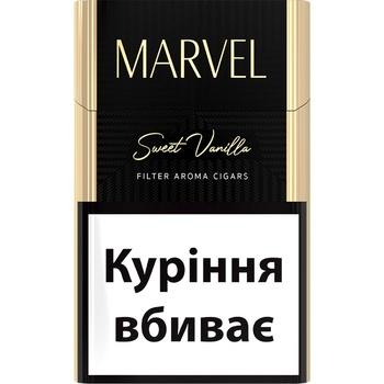 Сигариллы Marvel Sweet Vanilla - купить, цены на Ашан - фото 1