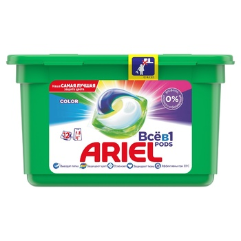 Капсули для прання Ariel Pods Все-в-1 Color 12шт - купити, ціни на CітіМаркет - фото 1