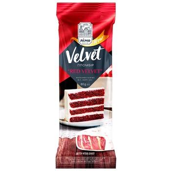 Мороженое Лимо Red Velvet Заварной крем в белой глазури эскимо 80г