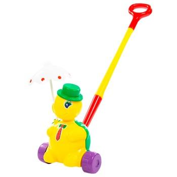 Игрушка Fancy Черепашка-каталка тортила с ручкой