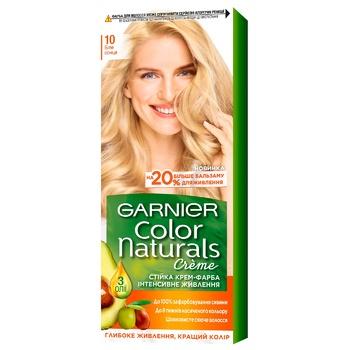 Краска для волос Garnier Color Naturals с 3-мя маслами №10 Белое солнце