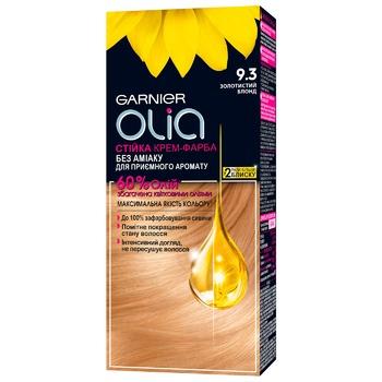 Крем-фарба для волосся Garnier Olia без аміаку 9.3 золотистий блонд 112мл