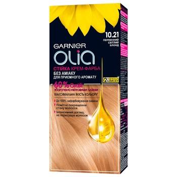 Garnier Olia Cream Hair Dye Without Ammonia 10.21 Pearly Light Blond 112ml