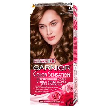 Garnier Color Sensation 5.0 Light Chestnut Hair Color - buy, prices for CityMarket - photo 1