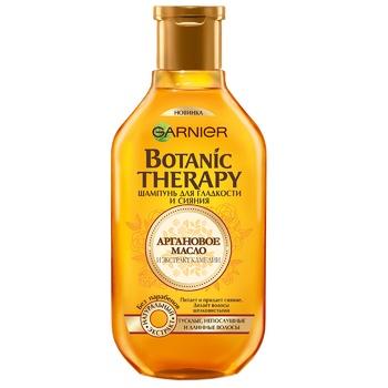 Шампунь Garnier Botanic Therapy аргановое масло и экстракт камелии для тусклых непослушных и длинных волос 250мл