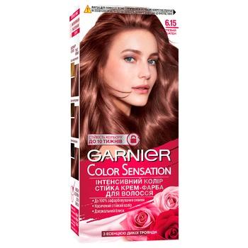 Крем-фарба для волосся Garnier Color Sensation №6.15 Чуттєвий шатен - купити, ціни на Ашан - фото 4