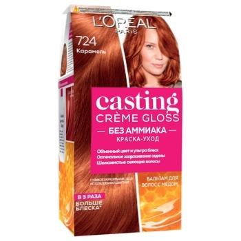 Краска для волос L`Oreal Paris Casting Cream Gloss 724 Карамель