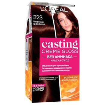 Краска-уход для волос L'Oreal Paris Casting Creme Gloss 323 Черный шоколад без аммиака