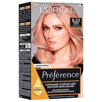 Фарба для волосся L'Oreal Paris Recital Preference 8.23 Рожеве золото