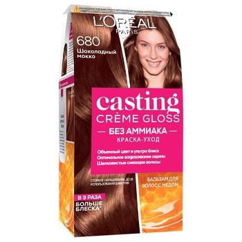 Фарба-догляд для волосся L'Oreal Paris Casting Creme Gloss 680 Шоколадний мокко без аміаку