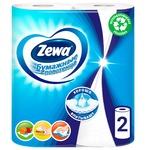 Zewa white 2-ply paper towel 2pcs