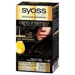 Фарба для волосся без аміаку SYOSS Oleo Intense 1-10 Глибокий Чорний 115мл
