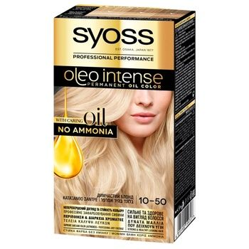 SYOSS Oleo Intense 0-50 Smokey blonde ammonia free hair due 115ml - buy, prices for CityMarket - photo 1
