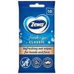 Салфетки влажные Zewa fresh classic 10шт