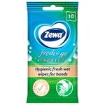 Салфетки влажные Zewa fresh protect 10шт