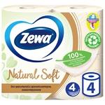 Zewa Natural Soft 4-layer Toilet Paper 4pcs