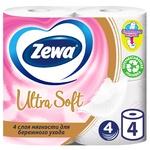 Туалетная бумага Zewa Ultra Soft четырехслойная 4шт