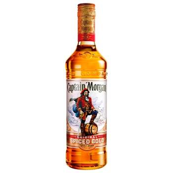 Напиток алкогольный Captain Morgan Spiced Gold на основе Карибского рома 35% 1л