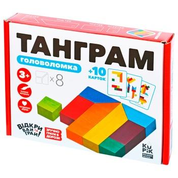 Конструктор-головоломка Игротеко Танграм деревянный 8 элементов