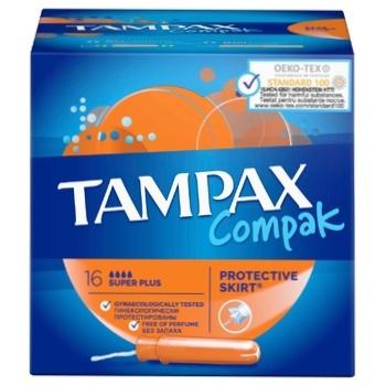 Tampax Compak Super Plus Tampons 16pcs - buy, prices for CityMarket - photo 7