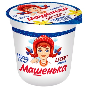 Mashenka Curd Dessert with Vanilla 5% 150g - buy, prices for CityMarket - photo 1