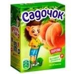 Сік Садочок персиковий 0,2л