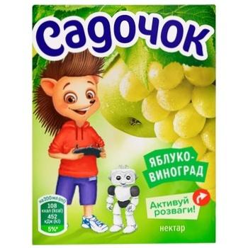 Sadochok Apple-grapes Nectar 0,2l - buy, prices for CityMarket - photo 2