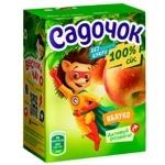 Сік Садочок яблучний без цукру 0,2л