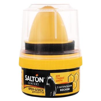 Средство для обуви Salton Крем-блеск с аппликатором черный 50мл - купить, цены на МегаМаркет - фото 1