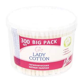 Палички ватні Lady Cotton 300шт - купити, ціни на МегаМаркет - фото 1