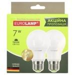 Промо-набор Eurolamp Лампа Led A60 7W E27 3000K 1+1