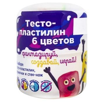 Міні набір для ліплення Тісто-пластилін Genio kids 6 кольорів
