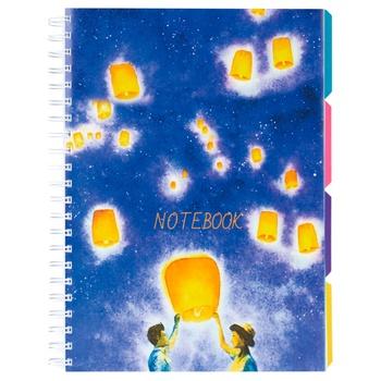 Блокнот Optima Universal A4 пластикова обкладинка спіраль - купить, цены на Метро - фото 1