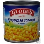 Vegetables corn Globus in grains 340g can Hungary